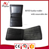 MK669M Online shop China bifold RFID wallet geuine leather wallet men with removable slot