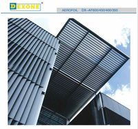 Foshan aluminum sun shade louvers fixed on the curtain wall