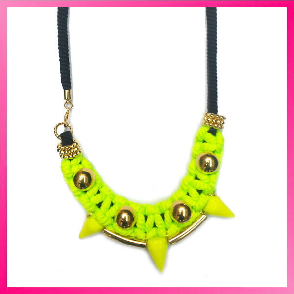 indian style handmade punk spike necklace