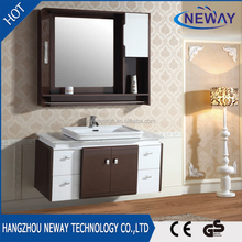 Waterproof modern wash basin bathroom mirror cabinet