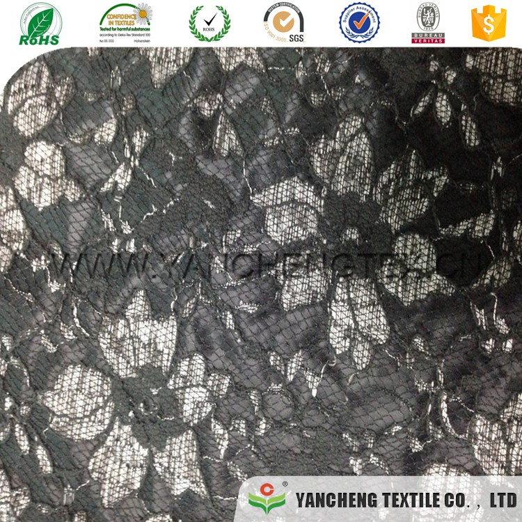 Cheap hot sale top quality network compound line lace fabric