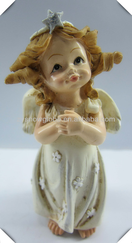 Resin small young girl figurine