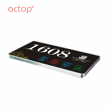 Touch screen hotel electronic doorplate with Do Not Disturb/hotel room number sign