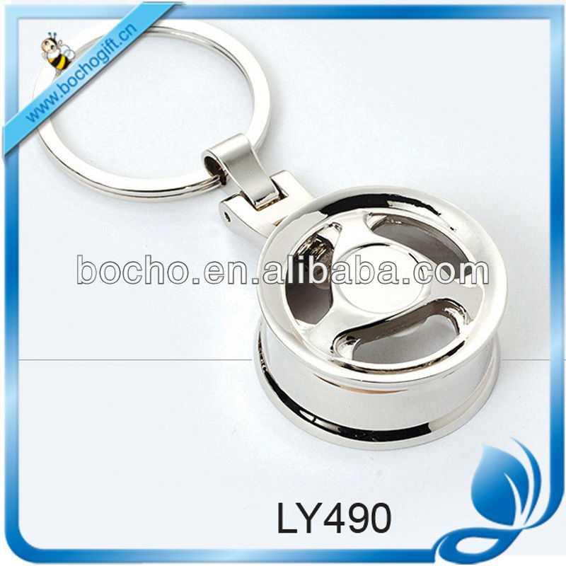 car tyre shaped zinc alloy key holder