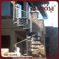 304 stainless steel outdoor metal spiral stairs | circular metal stair designs