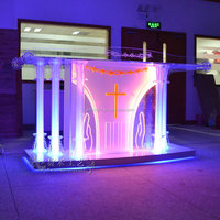 high quality glass church lectern podium used church lights