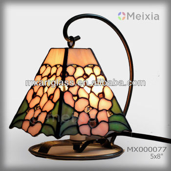 MX000077 hot china wholesale tiffany style stained glass mini desk lamp for home decoration piece