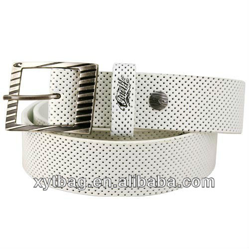 Beautiful white leather belts with nice design