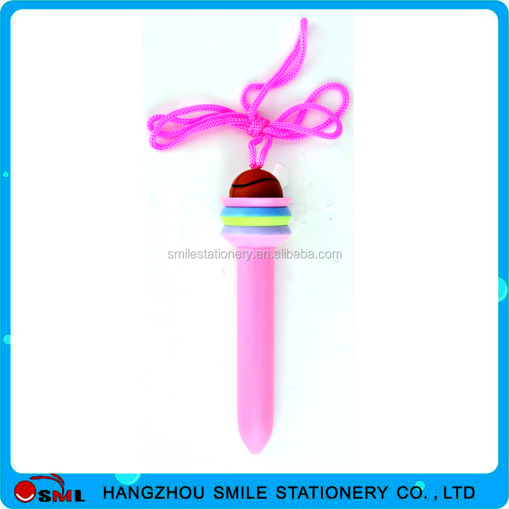 nice charming plastic cute pens with hanging rope for sale