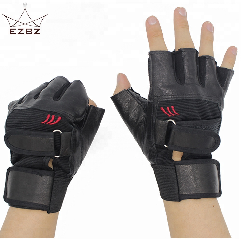 Protective <strong>Shock</strong> Resistant Fingerless Half Finger Leather Motorbike Gloves Perfect for Outdoor Camping Cycling