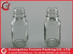 clear glass bottle with black paint colors to fill hair growth essence or oil hot wholesale.