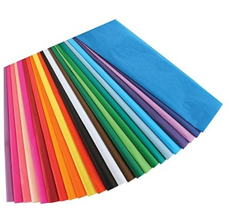 Assorted Colors 20X30 colorful Art Tissue Paper for books