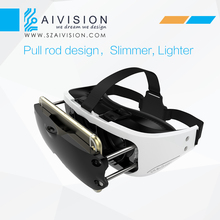 portable 3rd generation 3D VR BOX 3.0 Virtual Reality 3D Glasses for blue film video