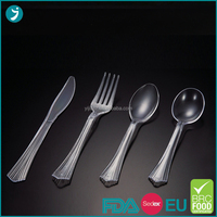 2016 trending products Eco-Friendly heavy duty plastic cutlery in factory