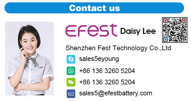 High Quality Long Life Li-ion AA Battery 14500 3.7v Battery Efest 14500 650mAH Battery