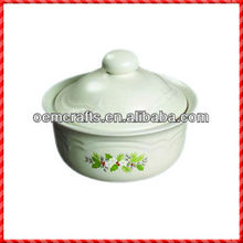 Simple white style Porcelain Food Storage Container