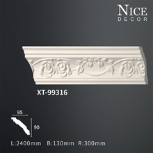Wholesale decorative pu crown ceilings pop design moulds/cornice