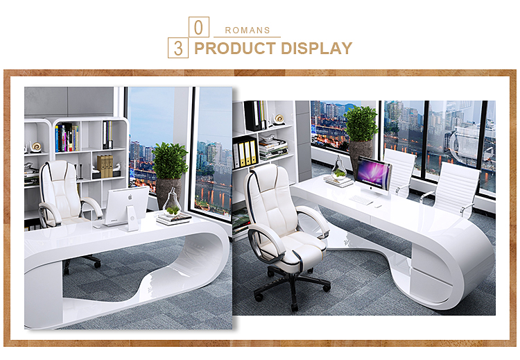 Luxury manager desk office furniture, MDF table and office furniture desks