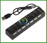 High Speed 7Port USB 2.0HUB micro usb hub ON/OFF Sharing Switch New