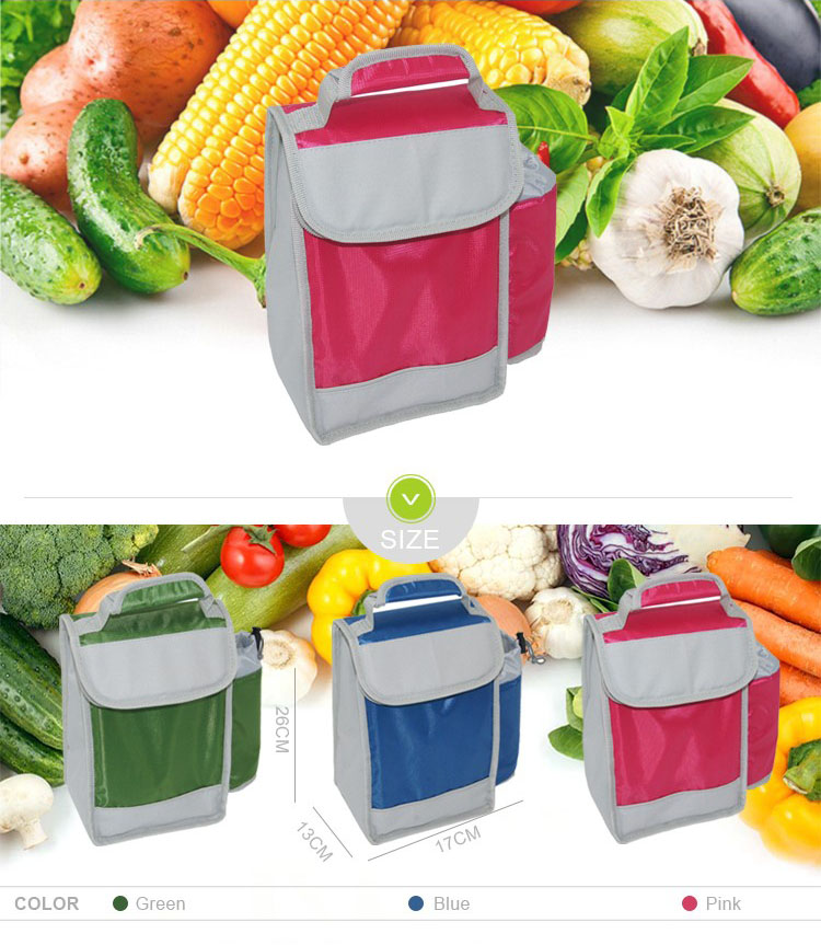 Promotion waterproof insulated handle lunch cooler bag