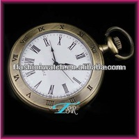 custom made pocket watch with charming pattern alloy case hot selling pocket watch made in China