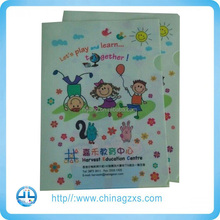 Document file portfolio a4 folder printing/guangzhou custom paper folder printing