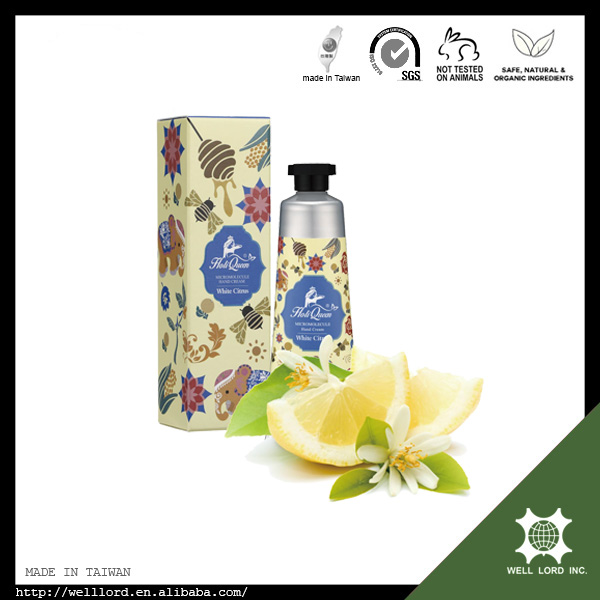 Fruity natural and organic white citrus fragrance hand cream 50g