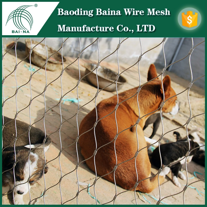 China Supplier High Strength zoo animal fence/stainless steel rope mesh/stainless steel cable netting for cheap sale