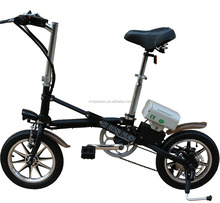 Electric bicycle folding ebike with pedal assist moped for 7 speed derailleurs