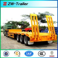 Size customization 3axle Lowbed Truck Semi Trailer For Sale