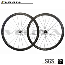 Velosa 700c road bike 38mm clincher 240s hubs wheels bicycle Toray T700 carbon fibe carbon High TG Basalt Braking wheelset