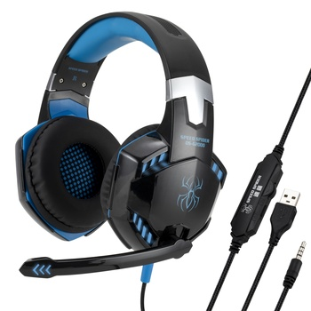 Hotselling new style promotional USB LED PC wired headphone G2000 PS4 gaming headset