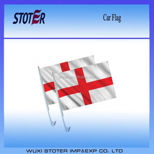 Double-sided printing knitted polyester England car flag