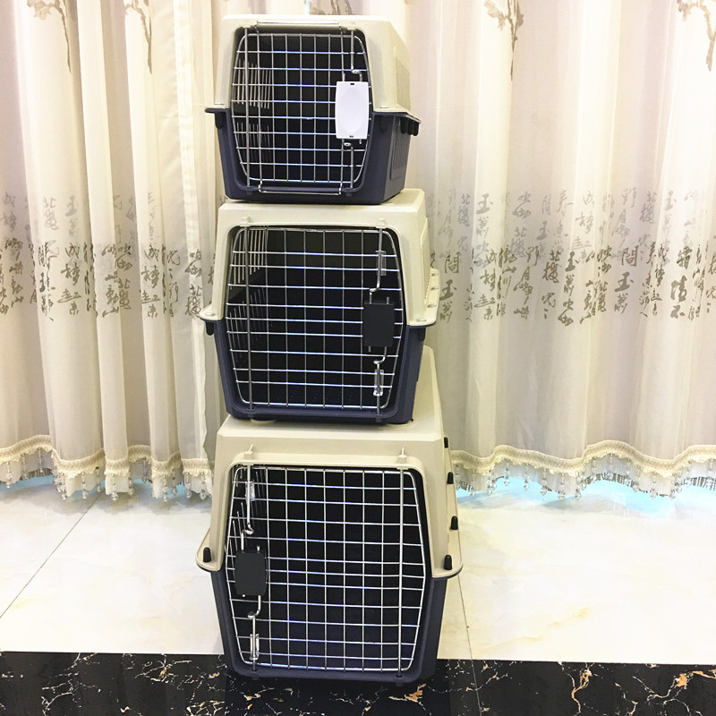 60'' Portable Pet Flight Cage For Airplane Wholesale Dog Transport Box Pet Transport Cage