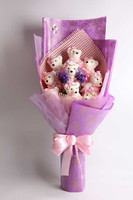 factory price plush toy bouquet / cheap giveaway gifts