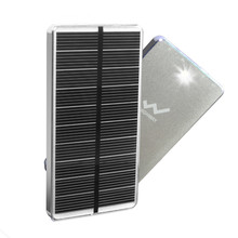PowerGreen Quick Charging Solar Charger 10000mAh 5V 2A Phone Power Bank with LED Light