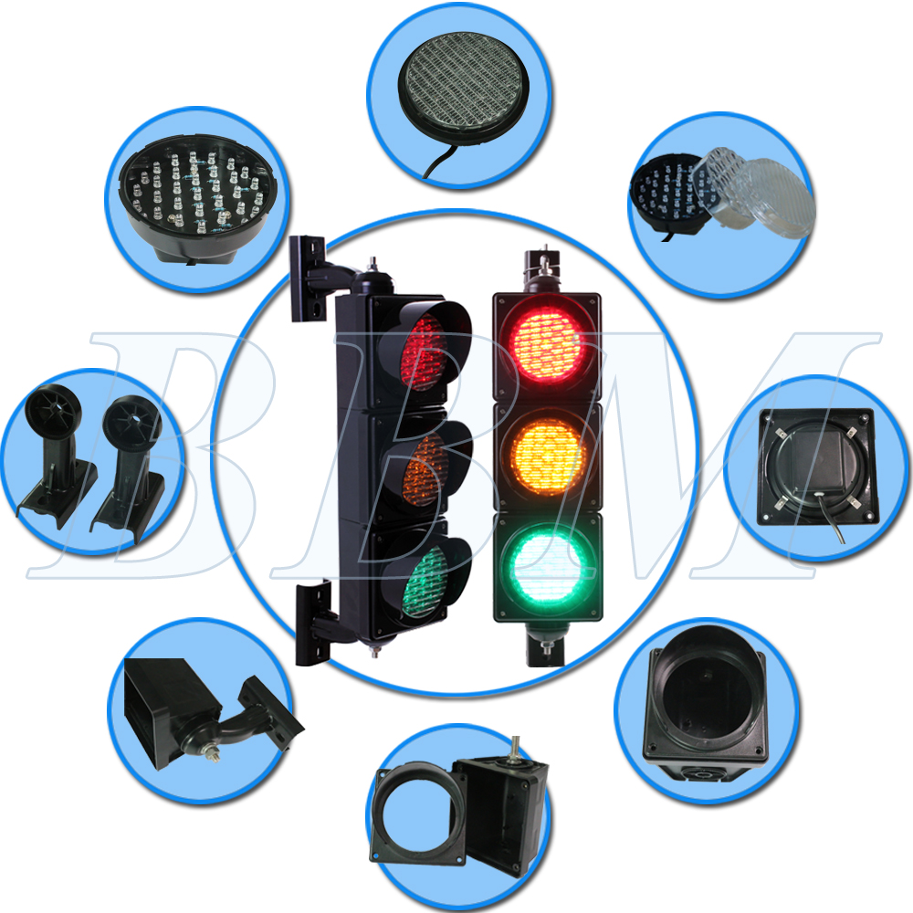 100mm mini traffic signal with plastic housing