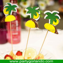 lovely disposable party decorative cocktail wooden picks