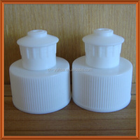 hot sell Zhejiang Yuyao24mm 28mm Non-spill PP white plasitc pull push cap CP2015-5 used for detergent bottle