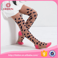 Tights pantyhose suit beauty girl, sample free leopard jacquard cotton pantyhose