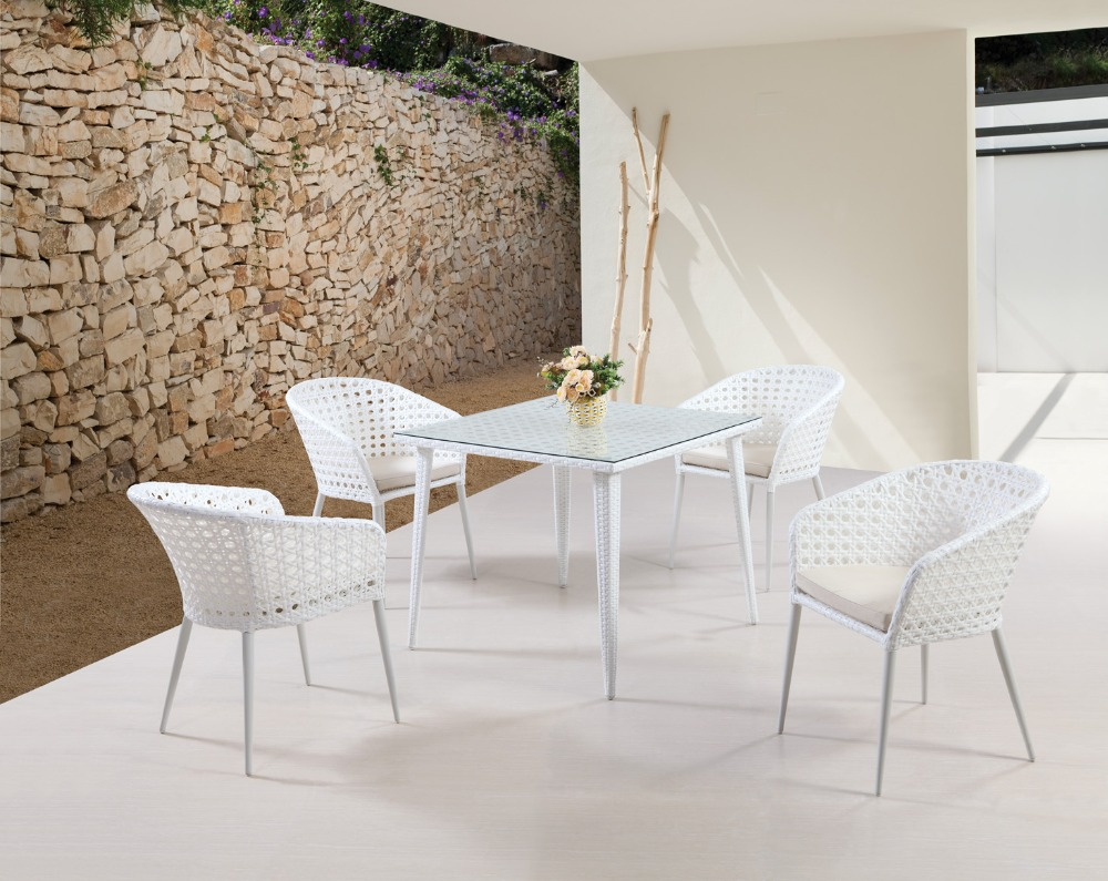 Resin rattan wicker dining room sets patio furniture