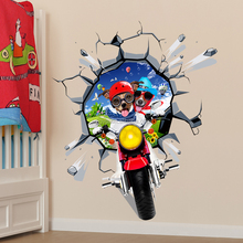 Creative 3d Cartoon Animal Motorcycle Dogs Funny Vinyl Sticker in Stock