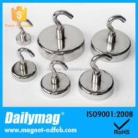 5pcs Magnetic Heavy Neodymium Hook Strong Hard Power Hook Holder Tool 9kg Suction
