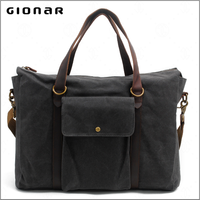 Canvas Shoulder 15.6-inch Bag Supplies Guangzhou Designer Laptop Handbag