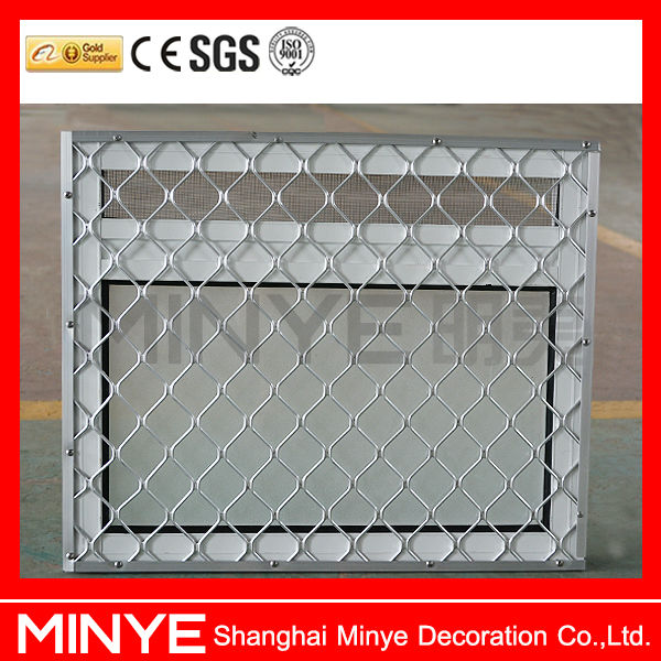 stainless steel screen security window design/aluminum safety window