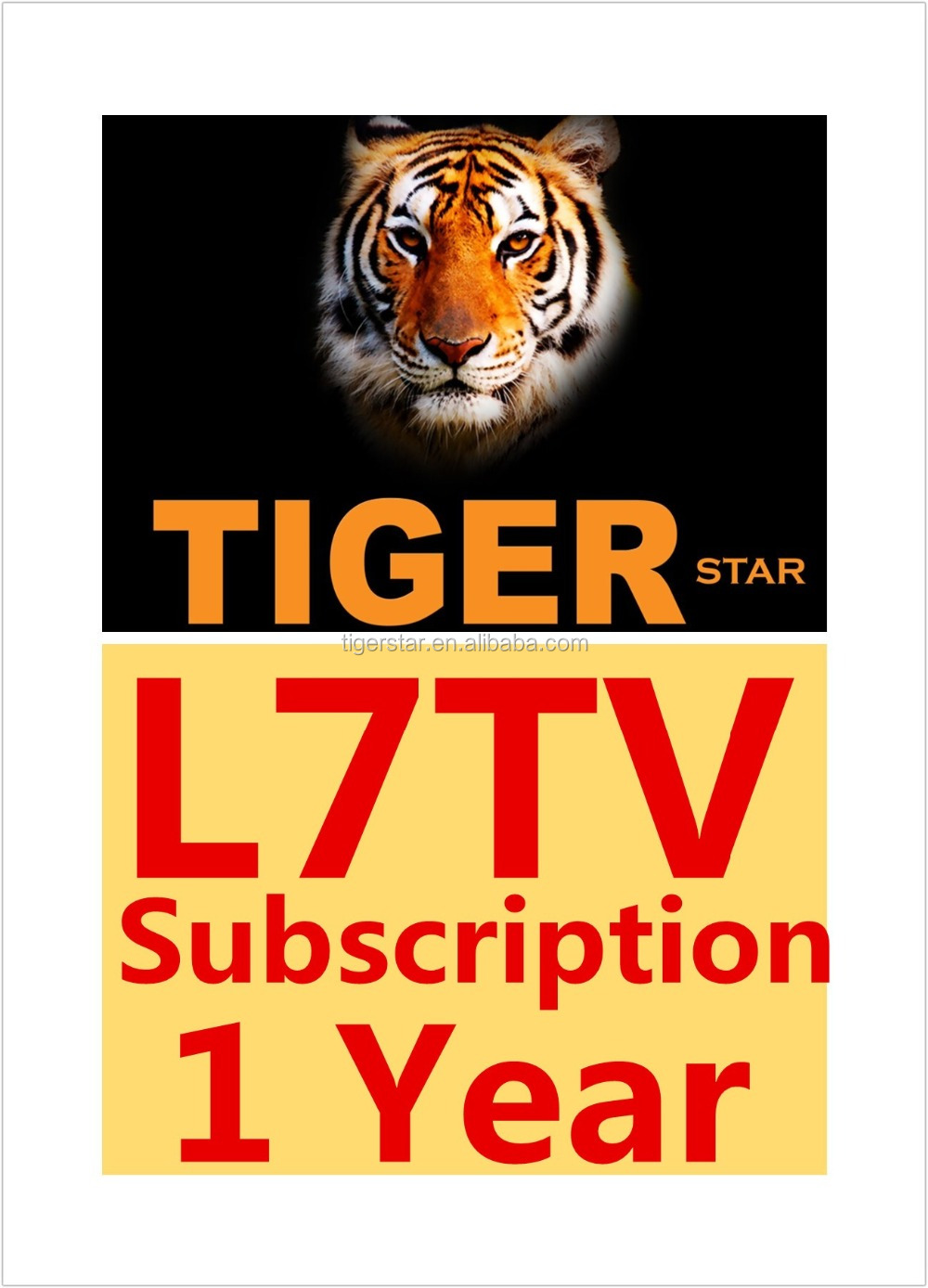 Tiger Star IPTV Subscription Account Arabic Live Channels