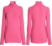 fall autumn women gym sport wear jackets Run Pink Half Zip Top sports jackets outwear