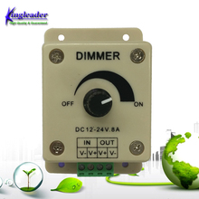Plastic Housing Button LED Strip Dimmer rohs PCB Controller For 3528 5050 Single Color LED Strip