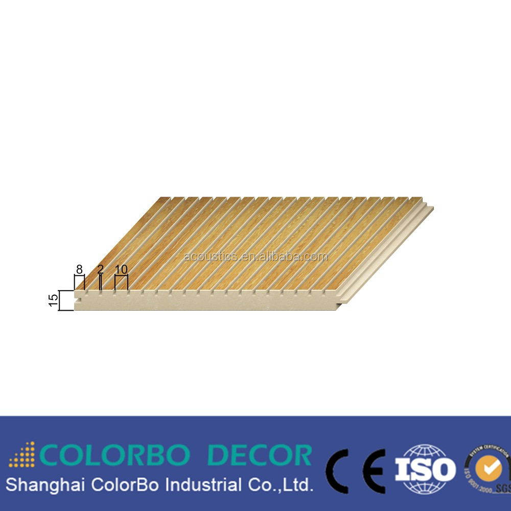 MDF Wooden Timber Acoustic Panels Noise Barrier Sound Proof Board
