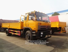 Dongfeng cheap price engineering yellow color 10 12 tons 14 tons cargo truck transport lorry for sale